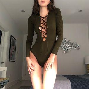 LF Carmar Lace Up Bodysuit